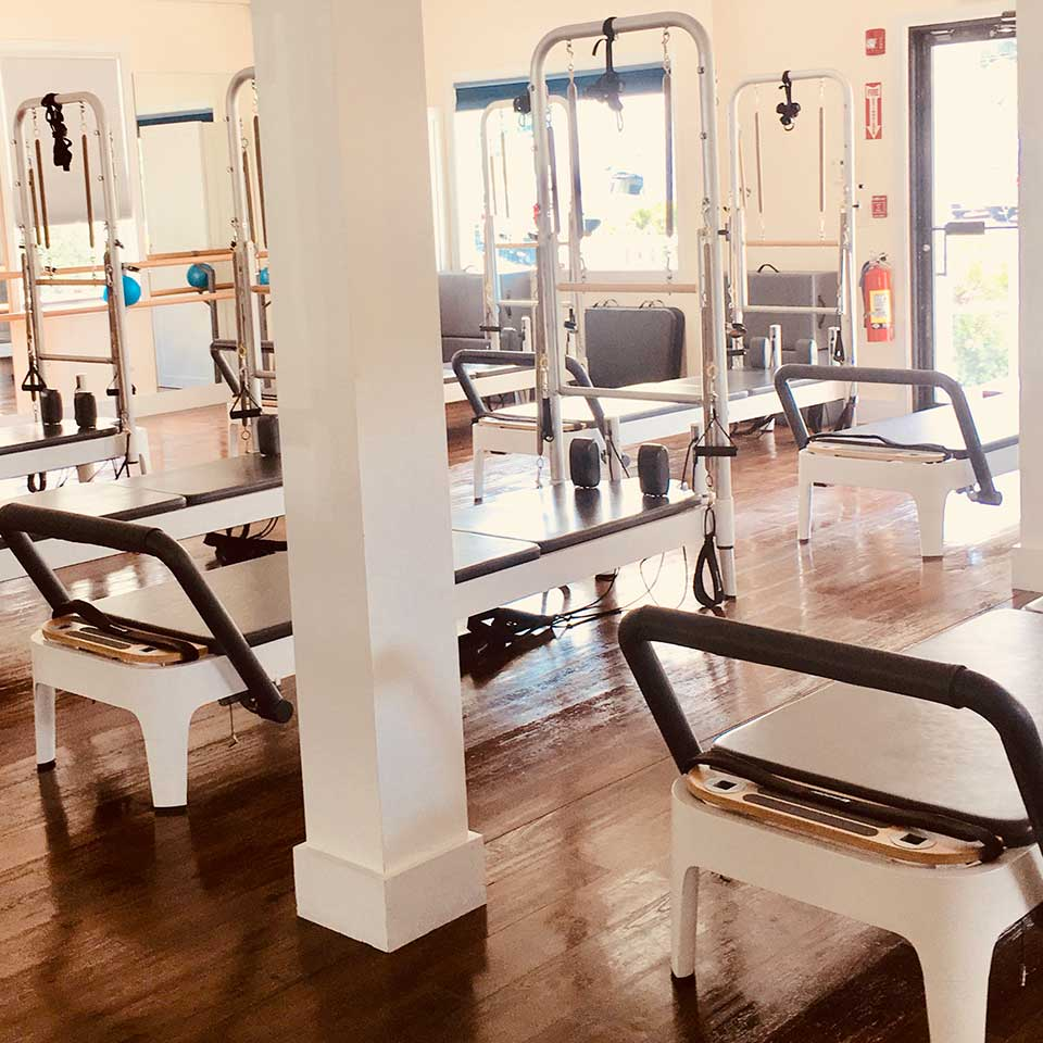 Photo of inside the Danvers Precision Pilates studio